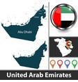 map united arab emirates vector image