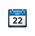 May 22 Calendar icon flat vector image vector image