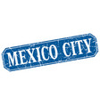 mexico city blue square grunge retro style sign vector image vector image