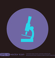 microscope sign symbol icon studying biology or vector image vector image