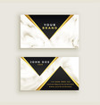 modern premium marble business card design vector image vector image