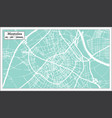 mostoles spain city map in retro style outline map vector image vector image