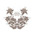nature emblem art deco design floral pattern for vector image