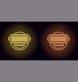 neon vr glasses in yellow and orange color vector image