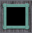 old wooden frame on vintage background vector image