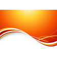 Orange sunburst - abstract futuristic background vector image vector image