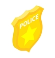 Police badge isometric 3d icon vector image