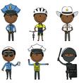 Police men vector image
