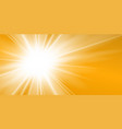 rays yellow background gold sunny sky heat vector image