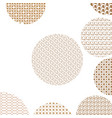 round geometric golden patterns on white with vector image vector image