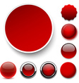 Round red icons vector image