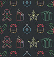 seamless background pattern with christmas vector image