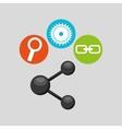 Sharing symbol technology social media concept