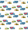 storage delivery transport forklift car pattern vector image vector image