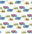 storage delivery transport forklift car pattern vector image