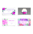 summer sale banners set decorate with flowers and vector image
