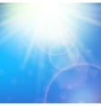 Sun with lens flare template vector image vector image