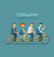 teamwork business concept business people or vector image vector image