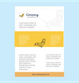 template layout for sparrow comany profile annual vector image vector image