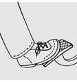 the foot on gas pedal vector image vector image