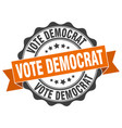 vote democrat stamp sign seal vector image vector image