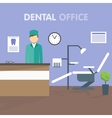 Workplace dentist vector image vector image