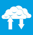 clouds with arrows icon white vector image