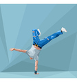 breakdancing vector image