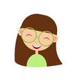 cartoon girl nerd funny female character in vector image