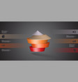 3d infographic template with round vector image vector image