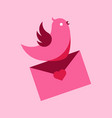 abstract bird letter messenger graphic vector image