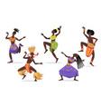 african female dancers flat set for web design