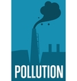 Air pollution banner Factory with smoke stack vector image vector image