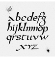 alphabet Hand drawn letters written with vector image vector image