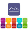 autumn cloud icons set flat vector image vector image