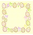 background for messages with egg yellow vector image