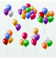 balloon bunches party decoration color balloons vector image