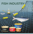 banner for marine products vector image