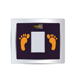 body fat scale isolated vector image vector image