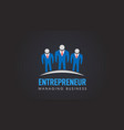 business people entrepreneur company logo vector image vector image