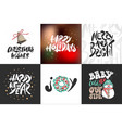 collection greeting cards stamps stickers and vector image