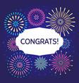 congrats celebration firework poster vector image