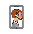 contact support customer service smartphone online vector image vector image