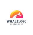 Creative whale logo design