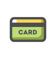 credit payment card icon cartoon vector image