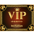 design invitations to the vip party gold vector image vector image