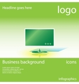 Display business background vector image vector image