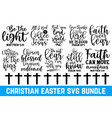 easter sunday typography quotes set calligraphy c vector image