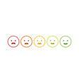 feedback emoticon emoji smile icon vector image vector image