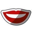 Female mouth cartoon design vector image vector image